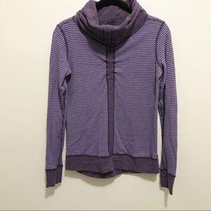 LULULEMON Reversible Cowl Neck Purple Pullover